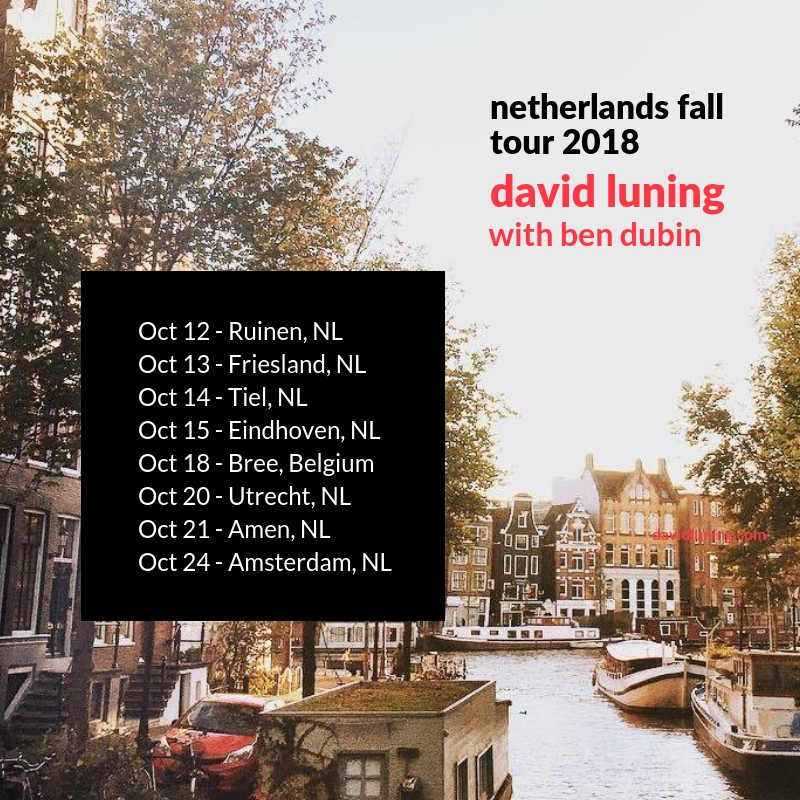 David Luning with Ben Dubin embark on first Netherlands Tour