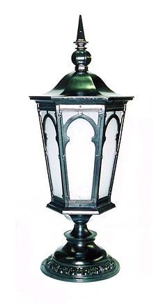 post lighting, outdoor lighting, made in usa, pier lighting, outdoor lantern, college lighting
