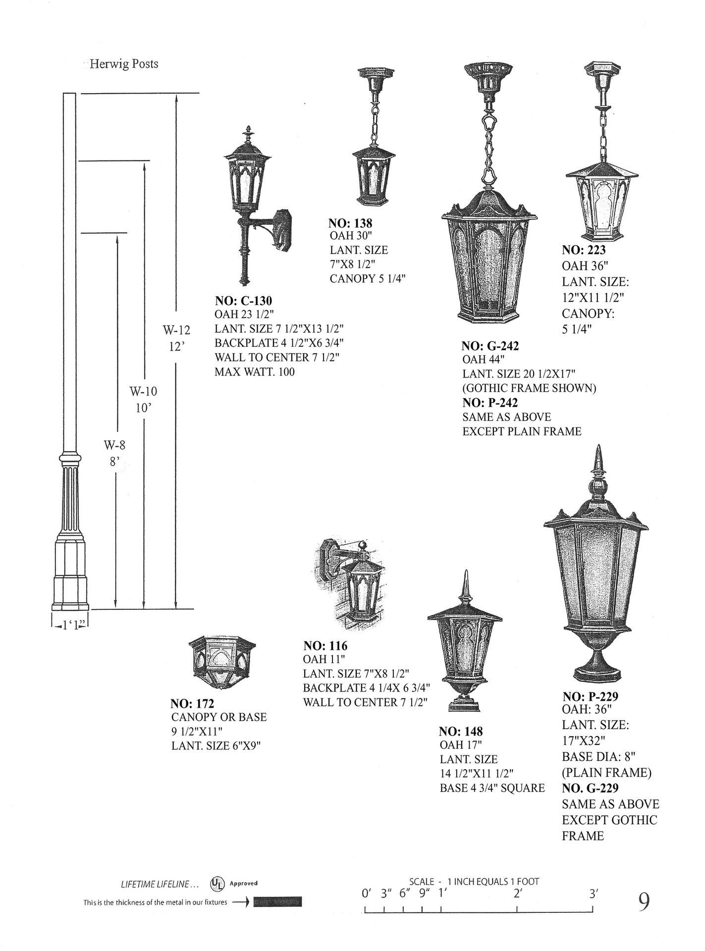 pendant outdoor lantern