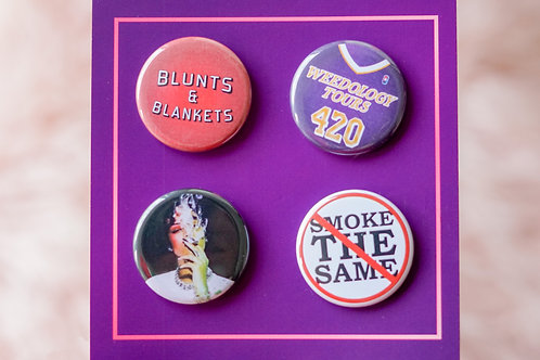 Limited Edition 4/20 Button Pack: Blunts & Blankets