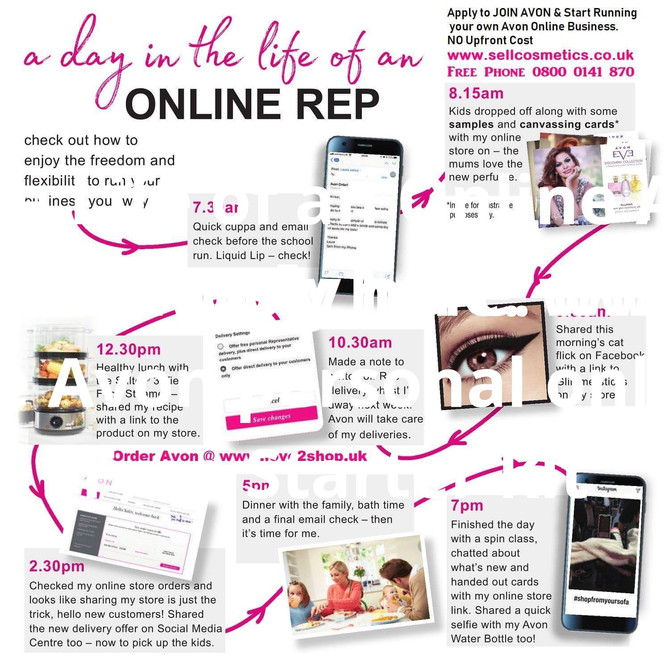 Day in The Life of an Online Avon Rep!Fancy Earning with AVON Apply here: www.sellcosmetics.co.ukNo