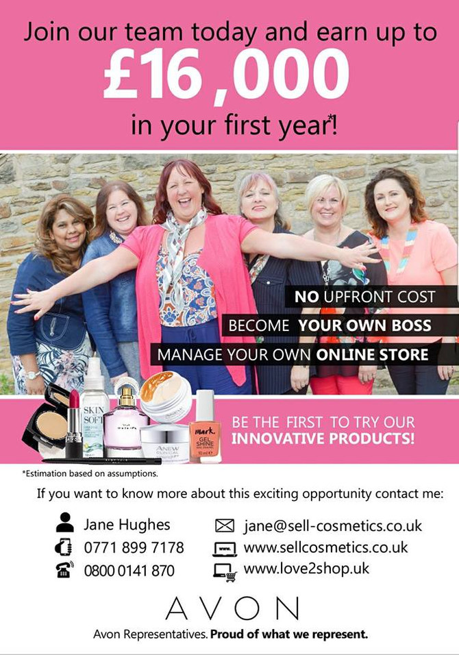 Join.our Team today @ www.sellcosmetics.co.uk