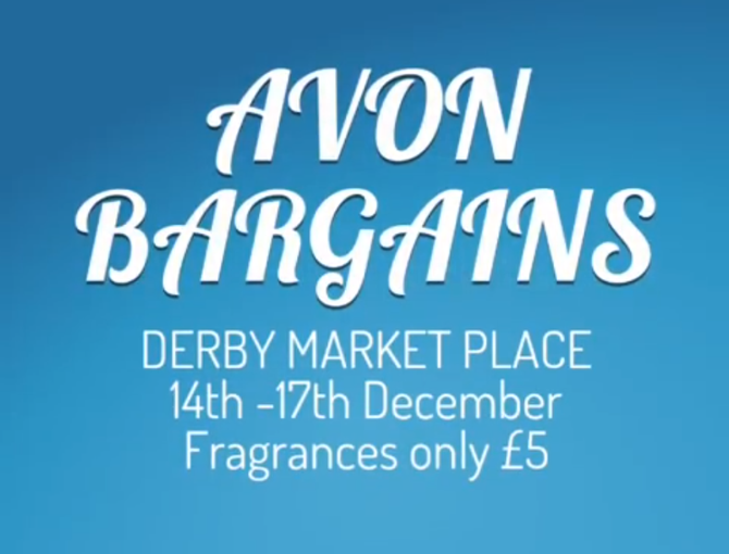 Fragrances only £5 at our stall at Derby Market Place this weekend