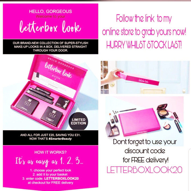 NEW AVON MAKE UP Letterboxes in 6 Shades