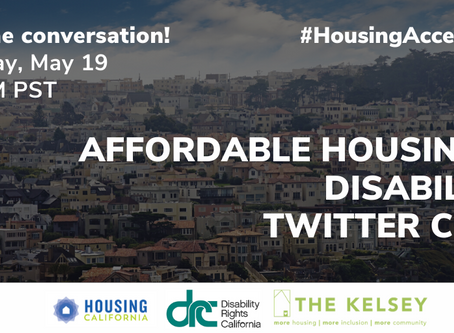Affordable Housing & Disability Twitter Chat: Tuesday May 19, 2020, 3-4PM PST