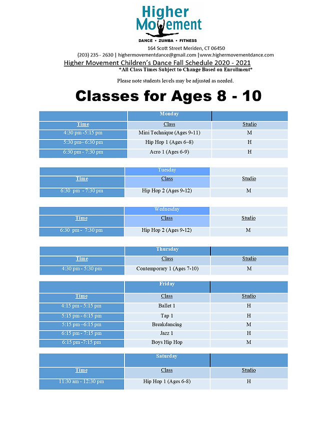 Fall 2020 Schedule Ages 8 - 10.jpg