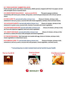 TUK TUK THAI FOOD MENU Takeout Menu 2015