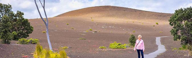 Devastation Trail Wide View With Hiker