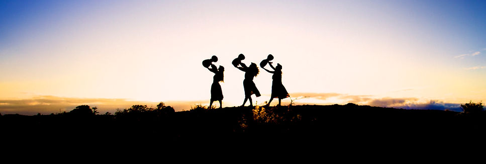 Hula Sisters At Sunrise In The National