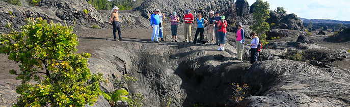 Tour Group At Crack At Mauna Ulu