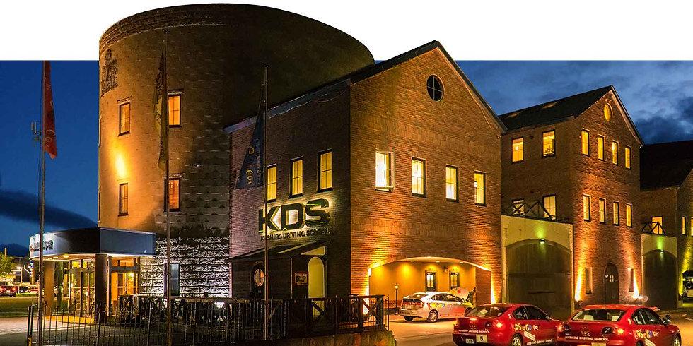 自動車学校 普通免許 大型免許 二輪免許 中型免許 準中型免許 牽引免許 大型特殊免許 KDS釧路自動車学校 校舎夜景