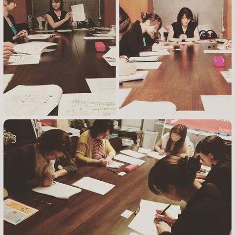本日はSプロジェクトにて_短期集中2日で美しく書ける大人の美文字講座を行いました