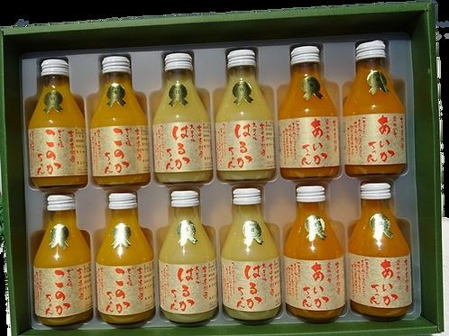 みかんジュース 小瓶180ml 12本入ギフトセット(化粧箱入)