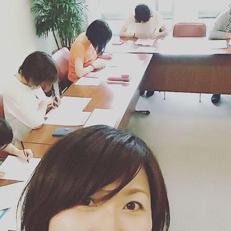 今日はSプロジェクト主催の『短期集中 2日間できれいに書ける大人の美文字講座』の