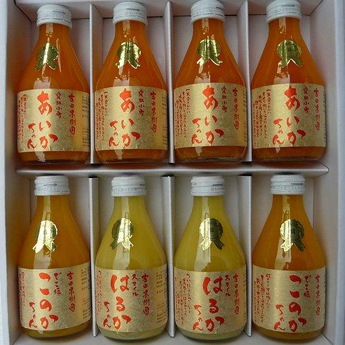 みかんジュース 小瓶180ml 8本 ギフトセット(化粧箱入)