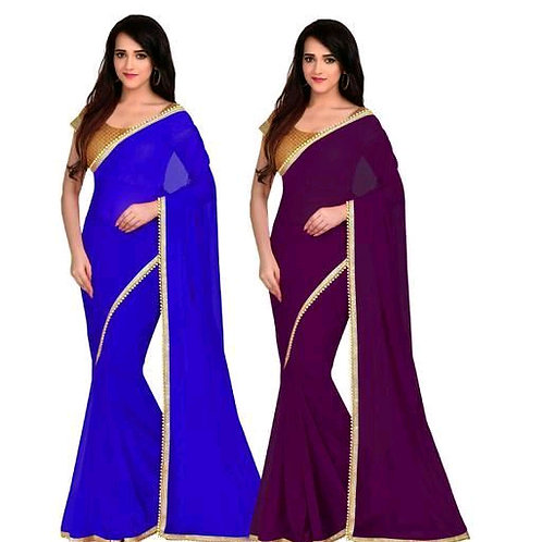 Stylish Georgette Saree Combo