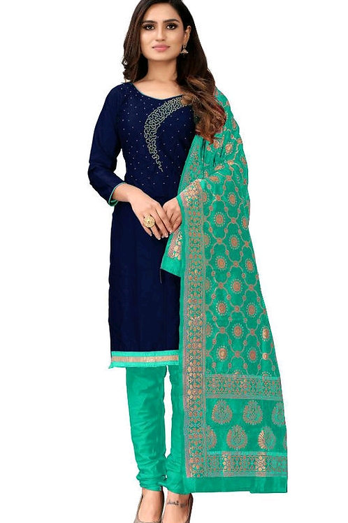 HEER Ethnic present salwar suit is a combination of tunic or Kameez and a pair o