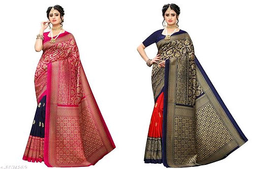 ART silk saree with blouse Combo