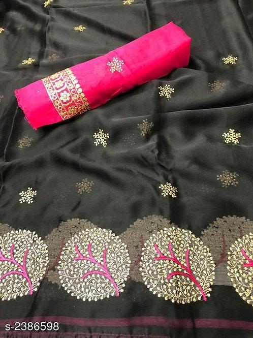 Designer Moss Chiffon Saree