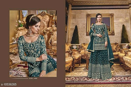 PUNJABI WOMEN SHARARA PLAZZO SALWAR KAMEEZ SUIT INDIAN DESIGNER PAKISTANI ETHNIC