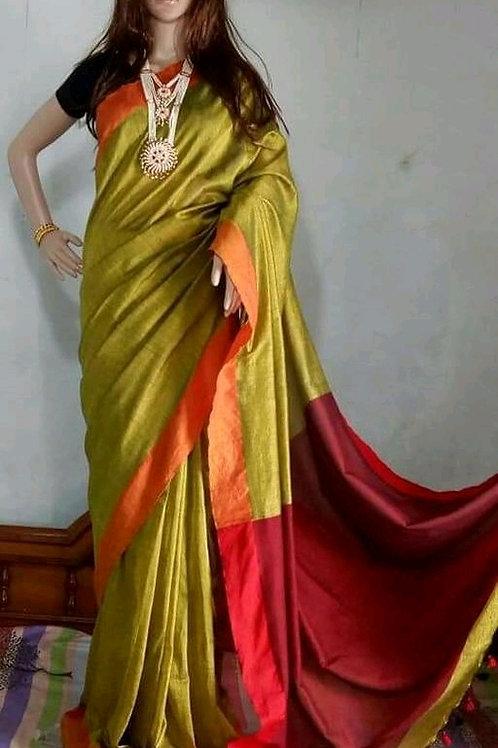 Diva Attractive Khadi Saree