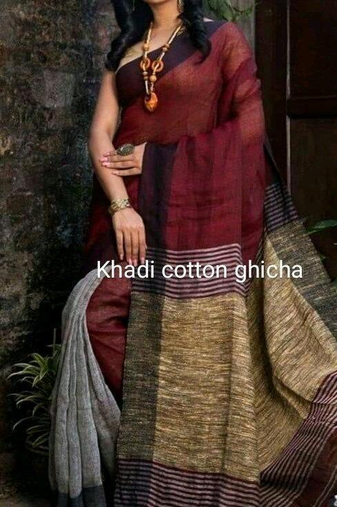 Designer Handloom Khadi Saree