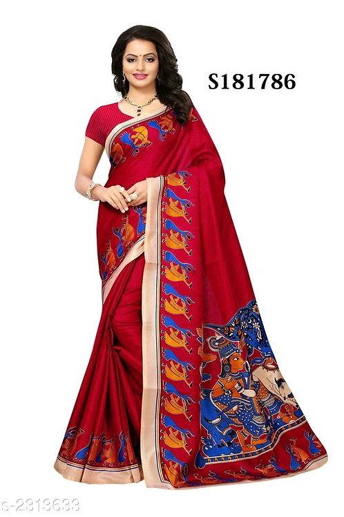 Attractive Printed Khadi Saree