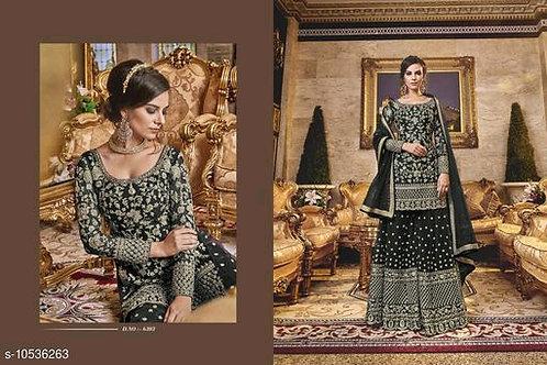 Latest Indo Western Burgundy Net Sharara Salwar Suit