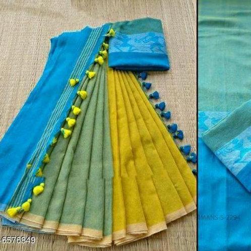 Blue Khadi Linen