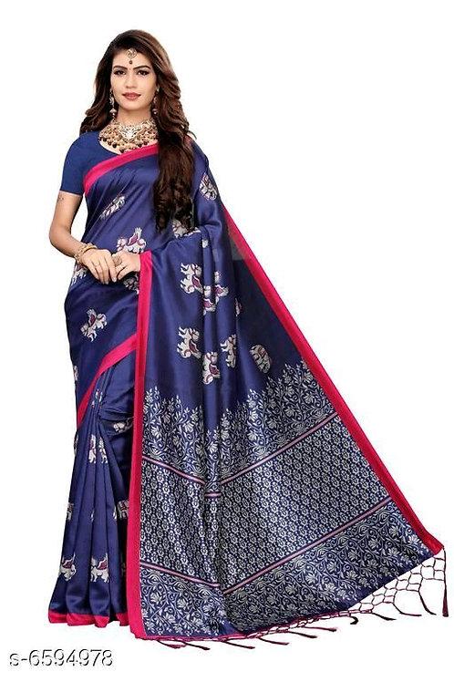 Beautiful Women Khadi Saree