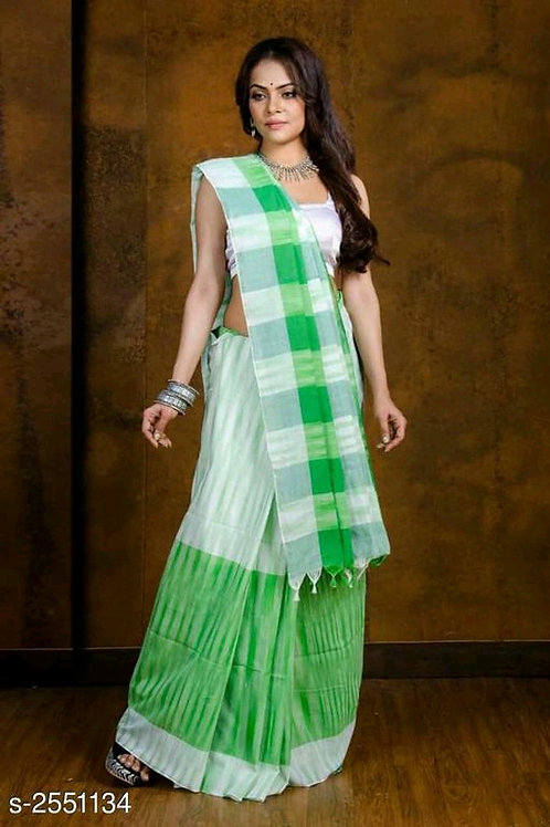 Alluring Khadi Cotton Saree