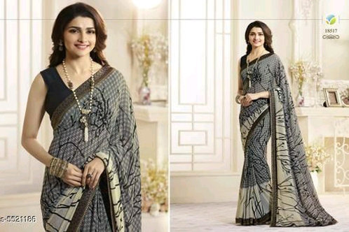 Pretty Women Heavy Georgette Saree