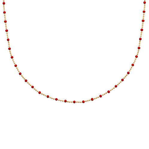 Collier Boho Rouge