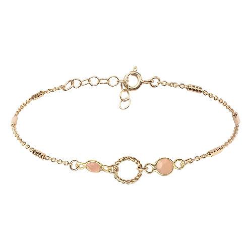 Bracelet Hermine Pêche