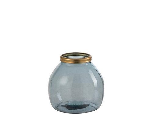 Vase Léna Bleu/Or