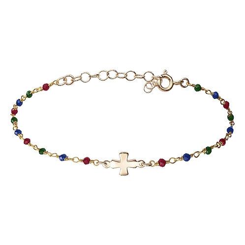 Bracelet Croix Multi