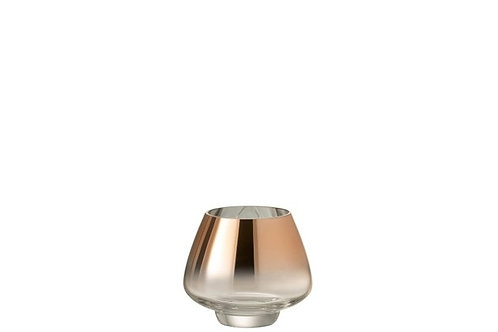 Photophore Verre Rose Transparent