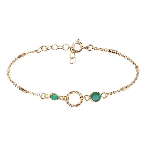 Bracelet Hermine Vert