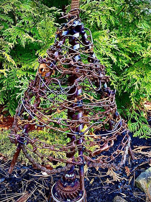 metal junk tree