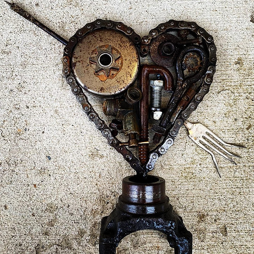 STEAM PUNK FORKED HEART