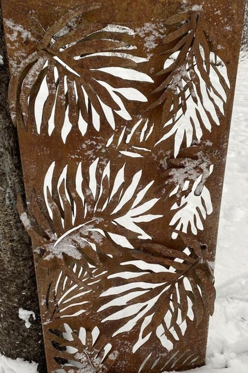 RUSTED PALM LEAF PANEL 2X4