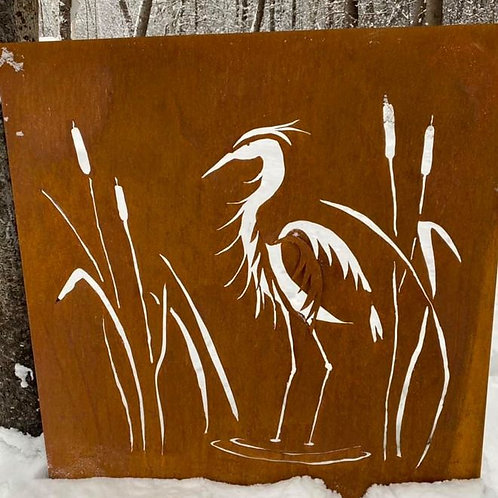 RUSTED HERON CUT PANEL