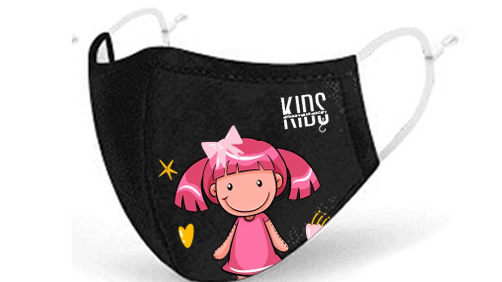 KIDS ON FASHION  by N2W Girl Mask with Air Filter Breathable Fabric