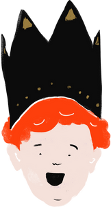 Cartoon boy with a crown