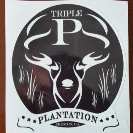 "Triple P Plantation 6"" Logo Decal"