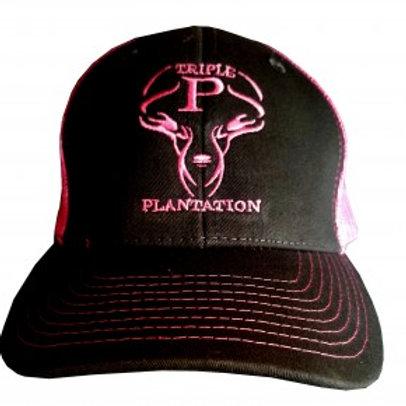 Black & Pink Logo Hat