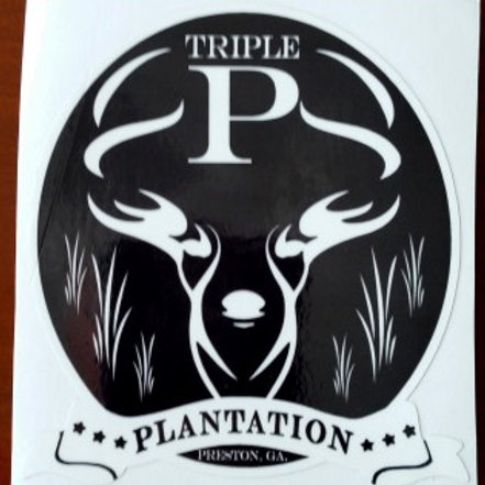 "Triple P Plantation 4"" Logo Decal"