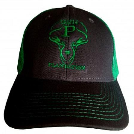 Black & Neon Green Logo Hat