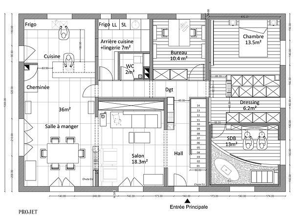 Aude Besson - Architecte d'intérieur- 49 - plan projet d'aménagement