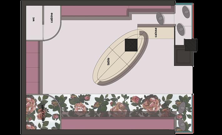 Aude Besson - Architecte d'intérieur- 49 - Plan d'ambiance du projet, superbe mosaïque au sol